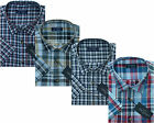 Mens King Size Yarn Dyed Short Sleeve Summer Check Shirts 3xl - 6xl By Tom Hagan