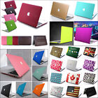 "Rubberized Matte Hard Case Cut-out Cover for MacBook AIR 11""13"" PRO 13 15 Retina"