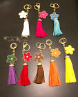 Flower Collecible Bag Or Keyring Decor With Clear Diamantes in different colours