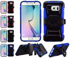 For Samsung Galaxy S6 Edge New Premium Dual Layer Side Stand Holster Cover Case