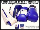 Fitness Trainer Set- Muay Thai Sparring Leather Boxing Gloves Focus Pads Wraps