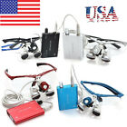 USA!!! Dental Surgical Medical Binocular Loupes 3.5x 420mm LED Head Light Lamp