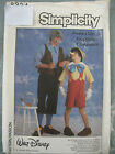 SIMPLICITY Disney Pinocchio Geppetto COSTUME SEWING PATTERN 8334