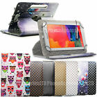 360° Luxury Designer Print Leather Case Cover For Samsung Galaxy Various Tablets