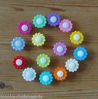 6 - Novelty Buttons - Flower  #2 - 15mm - Dolls/Baby/Kids - Knitting/Sewing