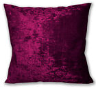 Mv28a Dk Magenta Red Diamond Crushed Velvet Cushion Cover/Pillow Case Custom Siz