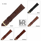 Hadley Roma MS2005 Genuine Alligator Watch Band Matte Stitched Regular Or Long