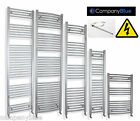 Prefilled Electric Heated Towel Rail Radiator Flat / Curved Chrome Pre filled