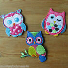 Iron on - Owls - Baby/Kids - Embroidered Patch/Transfer - Applique - Cards