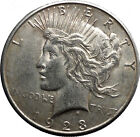 1923S Peace Silver Dollar United States of America Large Coin with Eagle i50200