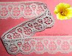 """5 Yards Lace Trim White 1-1/4"""" Scalloped R14V Added Items Ship No Charge"""