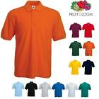 Polo Fruit Of The Loom Uomo Manica Corta 100% Cotone Pettinato 3 Bottoni Man