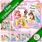Disney Princess Square Cake Topper Printed on Icing a