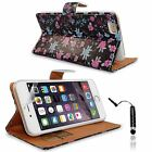 Printed Wallet Flip Leather Case Cover iPhone 6G 4.7 inch + Film & Stylus