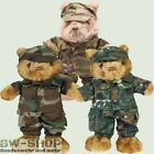 BUNDESWEHR TEDDY MIT UNIFORM NEU FLECKTARN / WOODLAND / MULTITARN BW US TEDDYBÄR