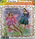 SIMPLICITY Fairy Ballet Demi Character Princess COSTUME SEWING PATTERN 2857