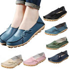 2016 Womens Leather Comfort Casual Walking Bowed Flat Shoes Loafers Moccasin New