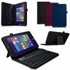 For WinBook TW802/TW801 8-Inch Tablet Folio Stand Case Cover Bluetooth Keyboard