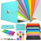 "Rubberized Macbook Case +Silicone Keyboard Cover Guard for Air Pro 11""12""13""15"""
