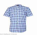 MENS SMART RAGING BULL 'VOILE CHECK S/S SHIRT' IN COLBAT BLUE SIZES L-3XL NEW IN