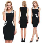 Womens Vintage Style 50's Rockabilly pinup Prom Retro Pencil Party Bodycon Dress