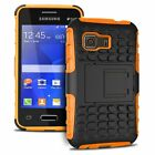 Samsung Galaxy Young 2 Shockproof Cover Hybrid Rugged Case w/ Kickstand
