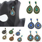 New Vintage Style Fashion Elegant Women Rhinestone Dangle Stud Earrings Hot