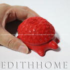 Chinese Art - Red Lacquer Carving Trinket Box / Jewelry Box ~3 Inch