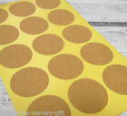 30/60 Kraft Paper Round Stickers Labels Crafts Price Tags Wedding 3.5 x 3.5cm