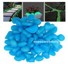 NEW 100 GLOW IN THE DARK PEBBLES Stones for Walkway garden aquariums decorative