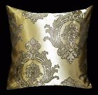 HC305a Light Bronze Gold Deep Brown Floral Jacquard Cushion Cover/Pillow Case