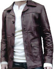 Men Vintage Redwine Leather Jacket Sz S-5XL or Custom Made 12 Colors