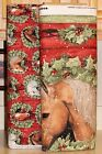 Christmas Welcome Wreath Horse Coordinating Fabrics  by Springs Creative bty