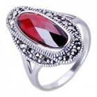 Women's Providence Ring of .925 Sterling Silver & Inlaid Garnet Gemstone