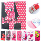 New PU Leather Mickey Mouse Disney Flip Stand Wallet Card Case For iPhone 4/5/6