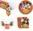 MICKEY MOUSE HALLOWEEN BIRTHDAY PARTY TABLEWARE NAPKINS PLATES CUPS TABLECOVER