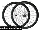 Full Carbon Road Cycling Dimple Finish Wheelset 25mm Width 50mm Tubular Wheels