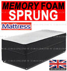 3FT SINGLE 4FT6 DOUBLE 5FT KING MEMORY FOAM SPRING MATTRESS ROLLED