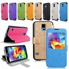 For Samsung Galaxy S5 Pu Leather Flip Folio Window View Ultra Slim Fit New Case