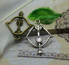 15/45pcs Simple and fun bow and arrow charm pendant give you a sense of style