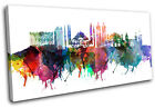 Istanbul Watercolour City SINGLE CANVAS WALL ART Picture Print VA