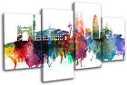 Barcelona Watercolour City MULTI CANVAS WALL ART Picture Print VA