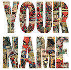 SPIDERMAN COMIC STRIP LETTER NAME STICKERS WALL DECO DECAL 3 SIZES lot CS