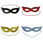 Women's Ladies Plain Sequin Eye Mask Masquerade Fancy Dress Part Accessory