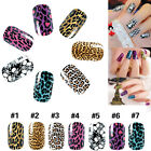 Ladys Sexy Leopard Skull Nail Art Transfer Foil Nail Sticker Tip Decoration DIY