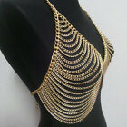Women Sexy Vtg Tassel Layered Harness Bikini Cover Up Necklace Belly Body Chains