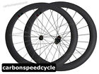 Full Carbon Road Cycling Wheels 60mm Clincher Racing Wheelset 3k matte finish