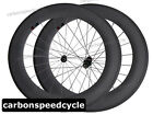 Full Carbon Fiber Cycling Wheels 88mm Clincher Racing Wheelset Sapim Spoke