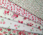 Fat Quarters Fabric Bundle Flowers Roses Vintage Shabby Chic Craft Bunting Quilt