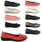 WOMENS LADIES FLAT BALLERINA CASUAL WORK SCHOOL LOAFERS PUMPS GIRLS SHOES SIZE